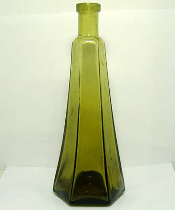 Pontiled Coloured Salad Oil C.1860's