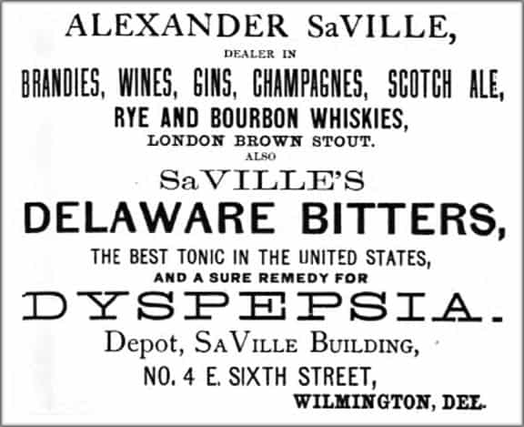SaVilleBitters1877Ad