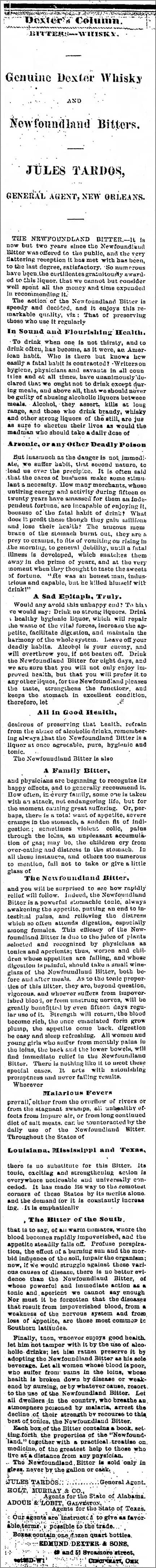 NewfoundlandBitters_The_Galveston_Daily_News_Tue__Oct_7__1873_