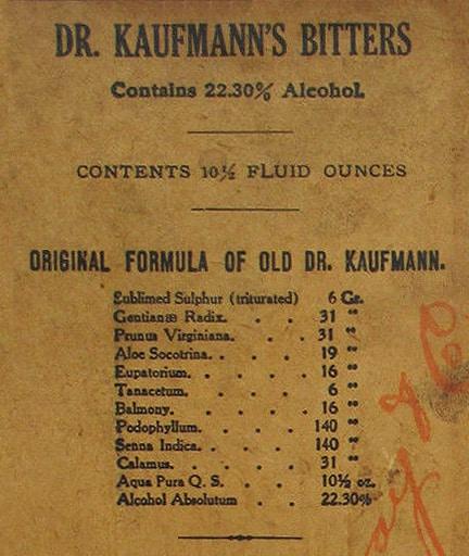 Dr  Kaufmann's Sulphur Bitters etc  etc  etc  | Peachridge Glass