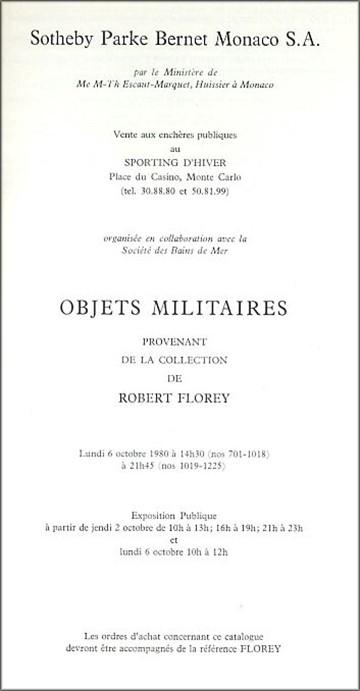 Bob's Sotheby Catalog inside pg.