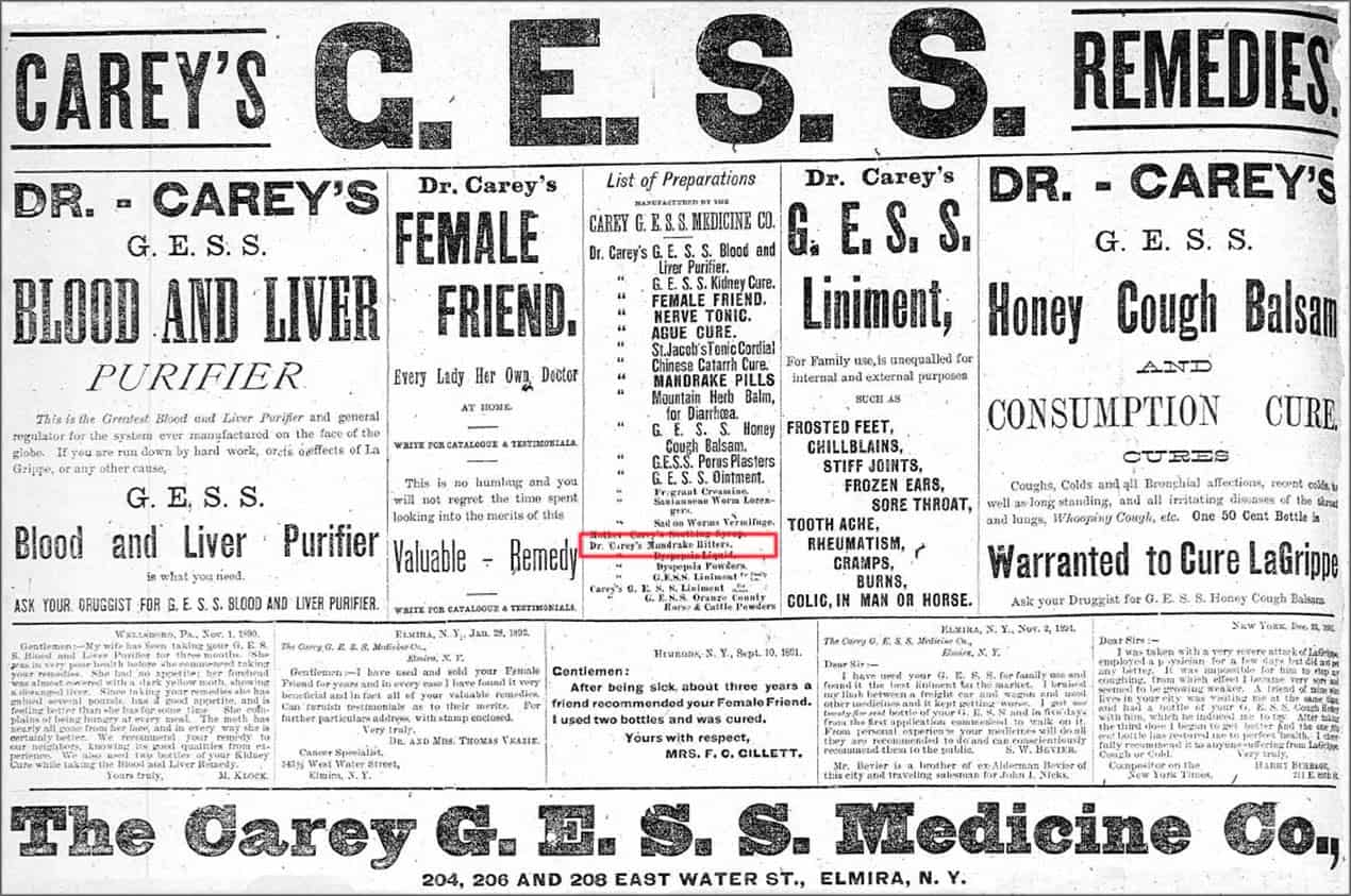 CareysMonsterAd_ElmiraMorningTelegram1892