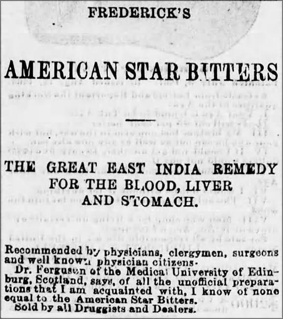 FredAmerStarBittersR_Harrisburg_Telegraph_Thu__Oct_29__1868_