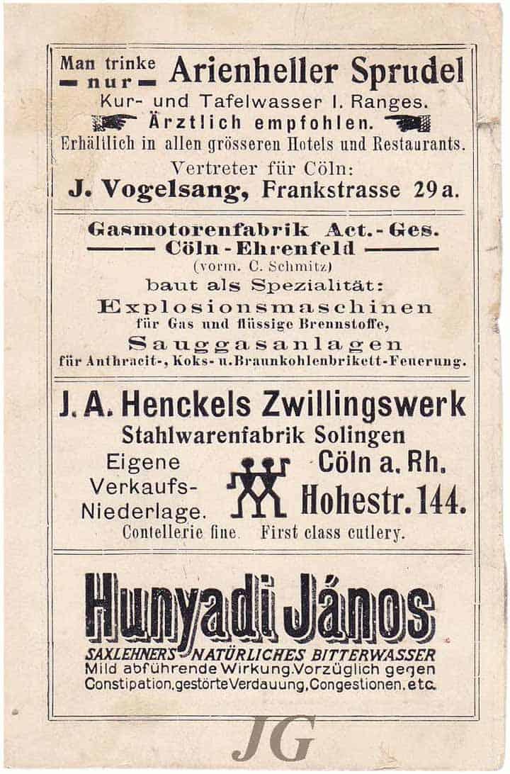 Saxlehner Huyadi Janos Naturliches Bitterwasser-back