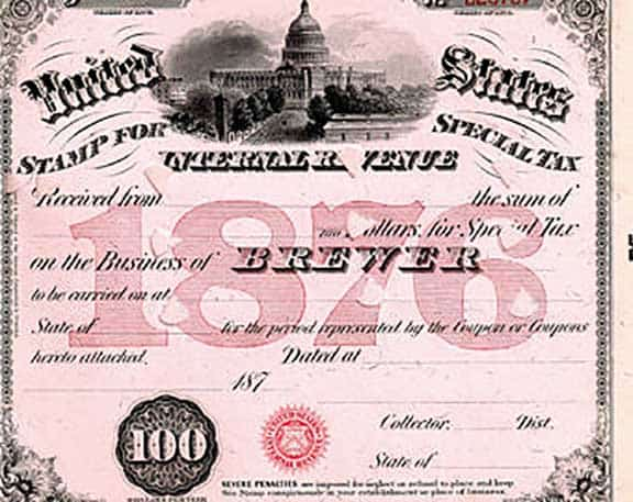 Looking Closer At 1876 United States Internal Revenue Special Tax Stamps