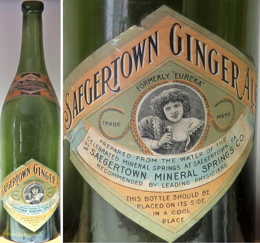 Saegertown bottle & label