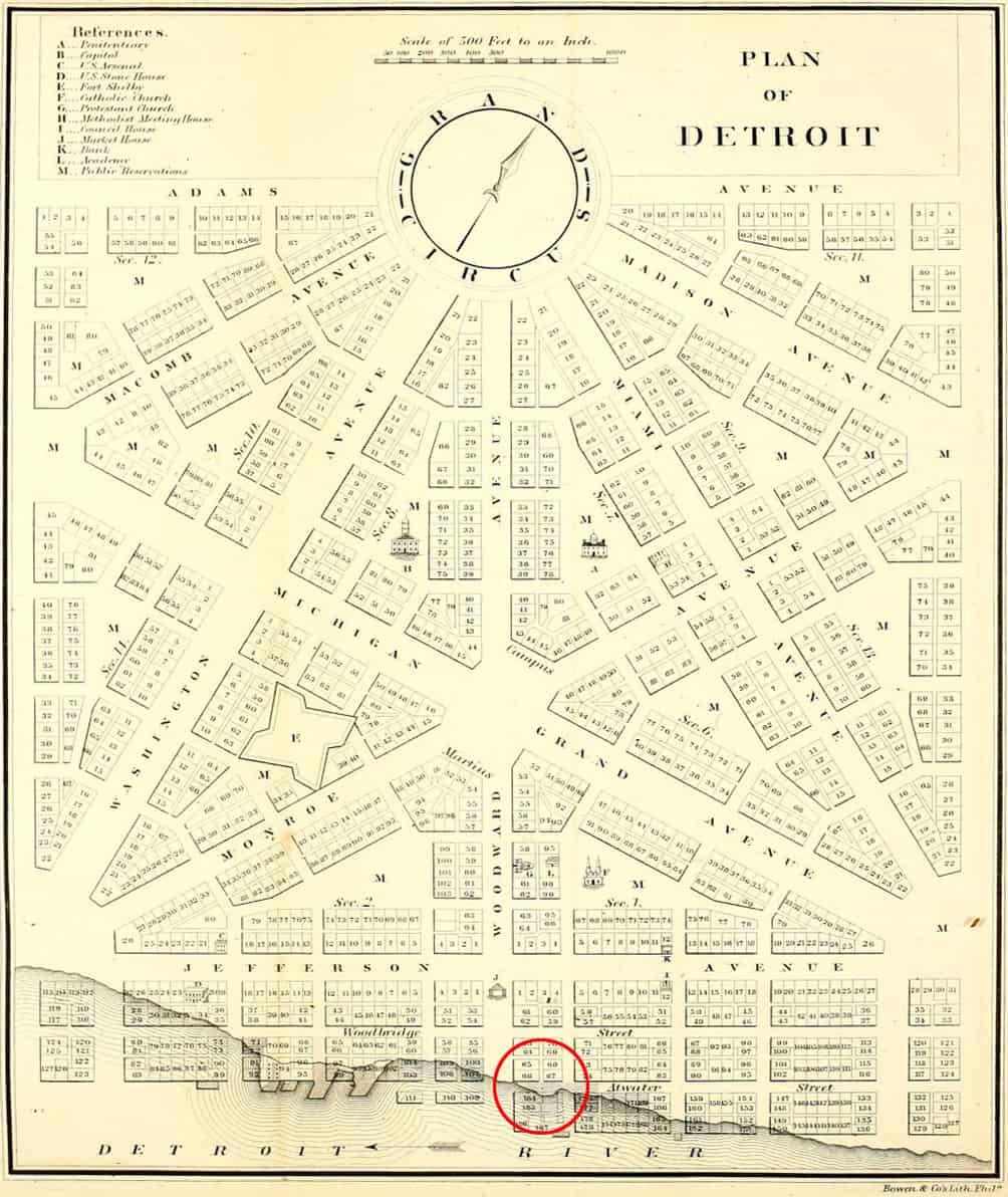 HinchmanOld_map_1807_plan