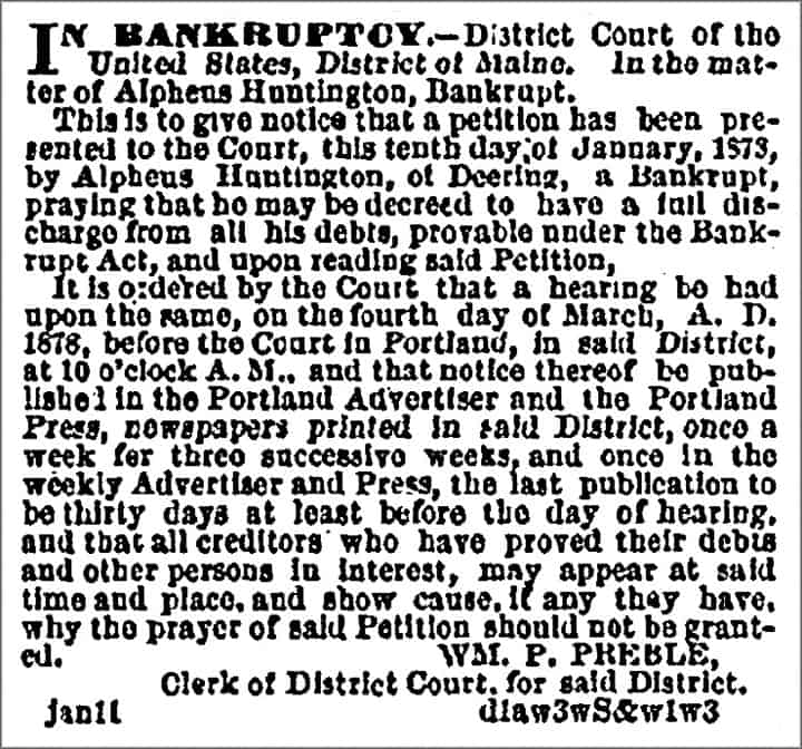 Date: Wednesday, January 30, 1878 Paper: Portland Daily Press (Portland, ME) Volume: 15 Page: 4